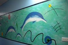 Kandinsky dolphin mural