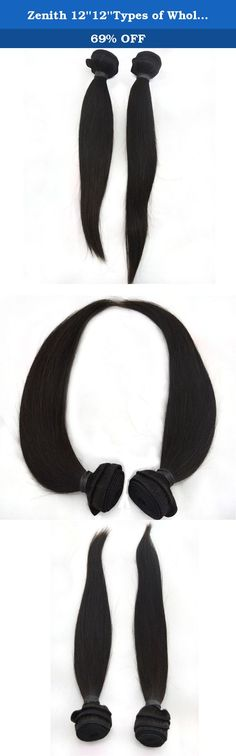 Zenith 12''12''Types of Wholesale Brazilian Hair Extensions Weave African American Wigs 12inch. Zenith HAIR only offers 100% human virgin hair, 1, Cut hair from yang healthy girl's braid, the hair is with full cuticle; 2, The hair is shine, soft, thick and no tangle and no shedding 3, With high technic and our hair texture last Long time. 3 head sewing machine make the double weft, it can dye to any color my like; 4,Zenith hair is easily Straightened, Curled, Dyed, bleached and Styled;...