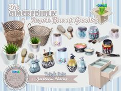 You've asked, we brought it :) It's SIMcredible! Small box of goodies #3 - Your lovely source for living touch supplies ^^ by SIMcredibledesigns.com  Found in TSR Category 'Sims 4 Decorative Sets'