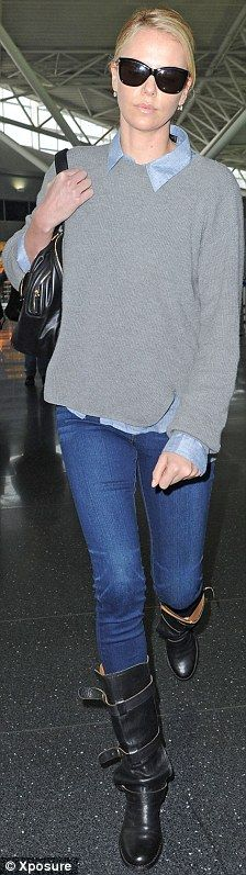 Charlize Theron rocks the Fiorentini and Baker Eternity, available at www.haloshoes.com