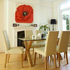 Esszimmer Wohnideen Möbel Dekoration Decoration Living Idea Interiors home dining room - Neutral Esszimmer mit Aussage Leinwand