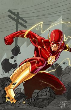 The Flash I like Jim Lee´s new design of the good old scarlet speedster. The Flash by Albert Hulm