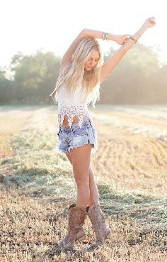 Cut offs and cowgirl boots = eternal sunshine