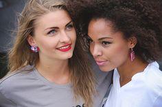 Photoshoot with Gorgeous Ladies - Anna and Nadja. Copenhagen, Denmark. ANAO - EARRINGS, painted, handmade