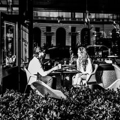 the couple in the cafe Coincidences, Warsaw, Black And White Photography, Street Photography, Documentaries, Christian, Concert, Couples, Black White Photography
