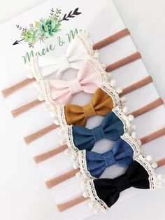 baby headbands YOU PICK Trimmed bows / Headband or Clip / Lace / Baby girl / Newborn baby girl / Clip / Pigtail bow Baby Girl Bows, Baby Girl Headbands, Girls Bows, Baby Girl Newborn, Newborn Bows, Baby Girls, Head Wrap Headband, Diy Headband, Headband Pattern
