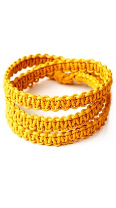 Yellow Wrap Macrame Bracelet.....comes in tons of awesome colors!