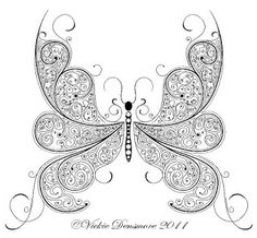 All Things Parchment Craft : Paisley Lace Parchment Craft Butterfly