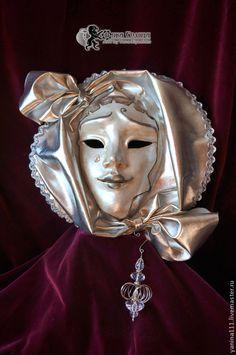 """Купить Коллекционная маска """"Lacrima di luna"""" (слеза луны) - серебряный, маска для лица"""