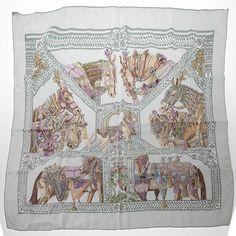 La Danse du Cheval Marwari - cashmere and silk shawl (140cm x ...