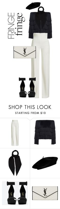 """""""That's Amoré"""" by roxysgotmoxy ❤ liked on Polyvore featuring Brandon Maxwell, A.L.C., Hermès and Yves Saint Laurent"""