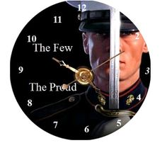 US Marines CD Clock  Can Personalize Send Pic Great Gift