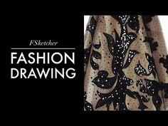 ELIE SAAB DRESS | Fashion Drawing - YouTube