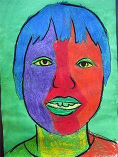 Artsonia Art Gallery - fabulous Fauve Faces-Harvey Second Grade