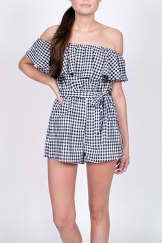 a5c4679dfd1 Pink Chicken Paloma Dress - Main Image. See more. Haute Rogue Gingham Off  Shoulder Romper - Main Image Off Shoulder Romper