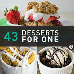 43 Dessert Recipes for One