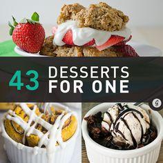 43 Dessert Recipes for One