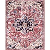 Magnolia Home by Joanna Gaines Lucca 2-Foot 6-Inch x 9-Foot 6-Inch Runner in Rust/Ivory