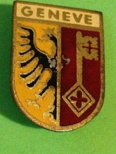 GENEVE GINEBRA SWITZERLAND SUIZA - OLD INSIGNIA PIN BADGE BROOCH BROCHE (I42)