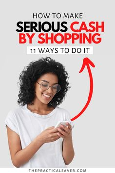 Did you know you can actually make money shopping? | The Practical Saver | You can get paid to shop online for free or in-store by people who don't feel like doing it. Here are 11 easy and legit ways to earn extra cash by shopping. Now, you can make money while you shop, eat, and just about anything you want to do, start now. #makemoney #workfromhome #earnmoneyonline #extracash #shopping Earn More Money, Make Money Fast, Earn Money Online, Make Money From Home, Earn Extra Cash, Extra Money, Personal Shopper Jobs, Best Shopping Apps, Get Paid To Shop
