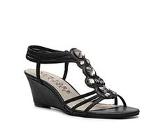 $39.95 silver or black DSW New York Transit Greater Cover Wedge Sandal