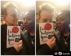#Repost @luvvie ・・・ #Bono says #ImJudgingYou 😆 Lovingly, of course. #u2