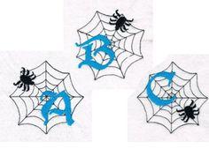 Spiderweb ABCs Machine Embroidery Designs http://www.designsbysick.com/details/spiderwebabc