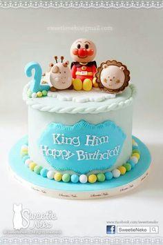 Anpanman fondant cake www.facebook/sweetieneko