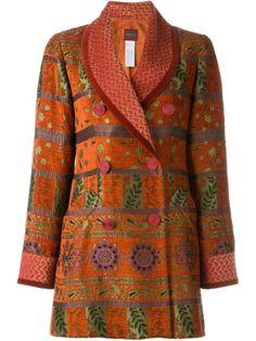 Shop Kenzo Vintage floral jacquard jacket .