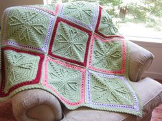 Hearts Granny Square Baby Afghan- custom made in your choice of colors - handmade by Rockin'Lola.   via Etsy.