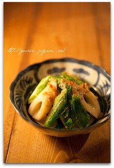 Sautéed Japanese fish sausage with miso sauce
