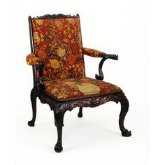 Chippendale Chair. England, Great Britain (made), ca. 1760 (made)  ca. 1740-ca. 1750 (embroidered)