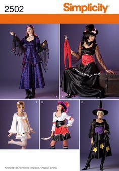 Para Hombre /& adolescentes patrón de costura 1582 Con Capucha Capa De Fantasía.. Simplicidad señoras