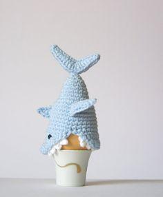 Häkeln Sie Shark Egg Cozy PDF Muster sofortiger von SpringFresh