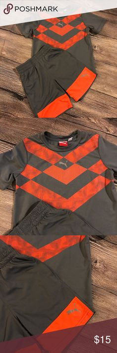 Like new boys Puma outfit.  Sz 4T Like New gray and orange two-piece Puma outfit that I think it was worn maybe one time. If you have a boy and you have to know these athletic outfits are the best!!!  You will LOVE.  Size 4T. Price firm unless bundled. Thanks for looking Puma Matching Sets