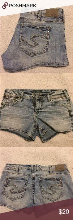 Silver Shots Like new🔹 No Trades Silver Jeans Shorts Jean Shorts