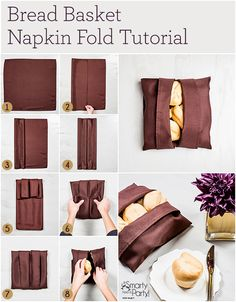How to turn a cloth napkin into a bread basket! | SmartyHadAParty.com