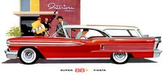 1958 Oldsmobile 88 Fiesta wagon, one of the ultimate chrome laden stylized wagons,,,and with a great name..FIESTA!..