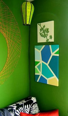 Custom Geometric Canvas Art by 9Red | Hatch.co