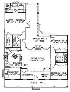 3br/2ba open floor plan
