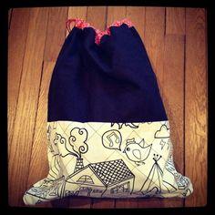Petit sac matelassé, couture, tissus petit pan & Ikea
