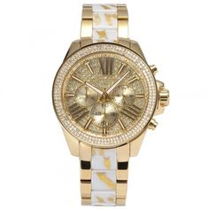 Michael Kors - Get Stylish, Get Watch Gold Face, White Zebra, Cool Things To Buy, Stuff To Buy, Watches, Stainless Steel Case, Michael Kors Watch, Latest Fashion, Quartz