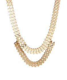 Goldtone Double Chain Necklace #zulily #zulilyfinds