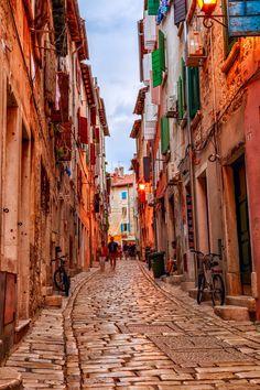 Rovinj's medieval old town, Croatia
