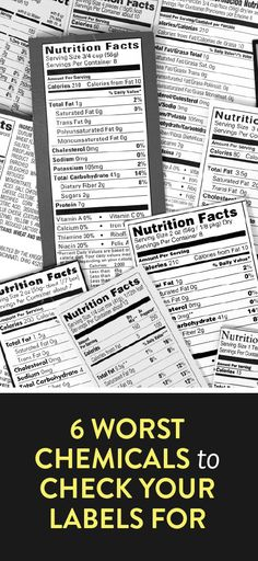 6 worst chemicals to check your labels for