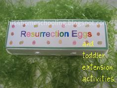 Resurrection Eggs and Toddler Extension Activities {H is for Homeschooling}