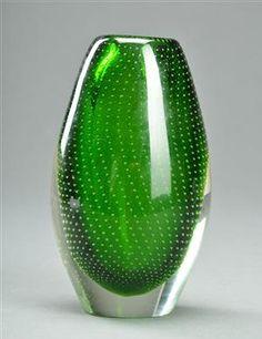 Lauritz.com Gunnel Nyman Blown Glass Art, Finland, Scandinavian, Sculptures, Perfume Bottles, Teal, Collection, Museums, Crystals