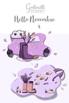 Hello ! C'est bientôt novembre... les doodle hello novembre sont arrivés sur le blog. #hellonovembre #novembre #doodle #gribouillistreet