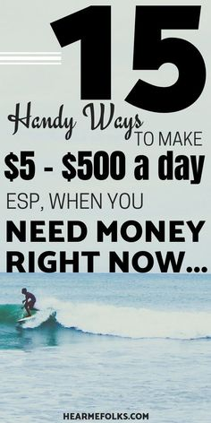 I Need Money Now: 15 Ways to Do it Legally! Need money today? Here are 15 QUICK ways to make money w Make Quick Money, Make Money Today, Make Real Money, Make Money Blogging, Make Money From Home, Money Tips, Saving Money, Make Money Traveling, Earn Money Online Fast