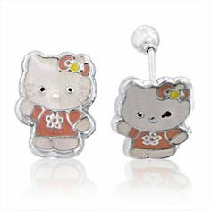 Hello Kitty Stud Earrings (Whole body) in .925 Sterling Silver with Screw Backing DiamondDeco. $9.99. Stud Earrings. Sterling Silver Earrings with Sterling Silver Plated Alloy Screw Backing. Screw Backing. Hello Kitty. Save 80% Off!